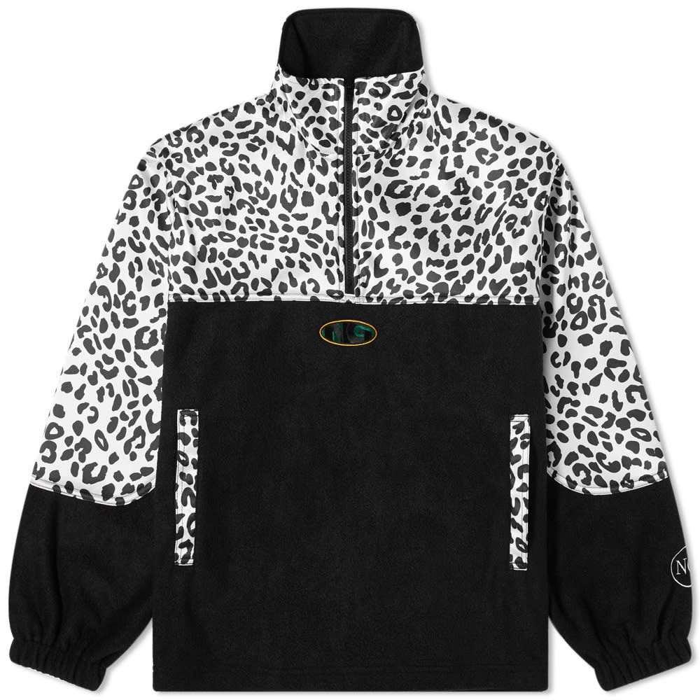 ヌーン グーンズ Noon Goons メンズ フリース トップス【Leopard Half Zip Polar Fleece】Black/Leopard
