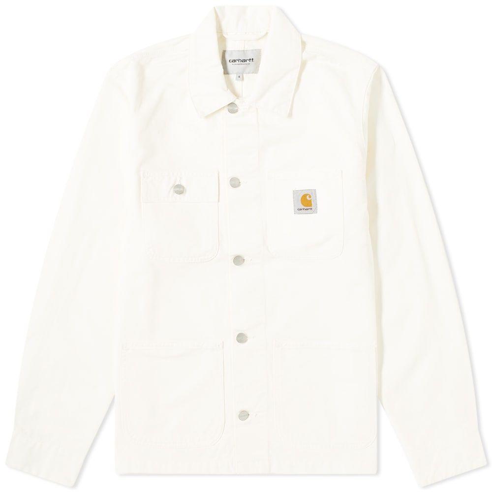 カーハート Carhartt WIP メンズ コート アウター【Michigan Chore Coat】Off White Newcomb Drill