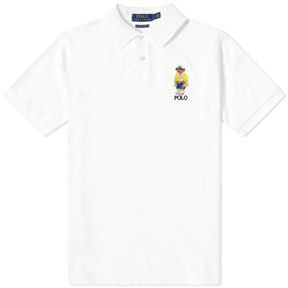 ラルフ ローレン Polo Ralph Lauren メンズ ポロシャツ トップス【Yachting Bear Embroidered Polo】White