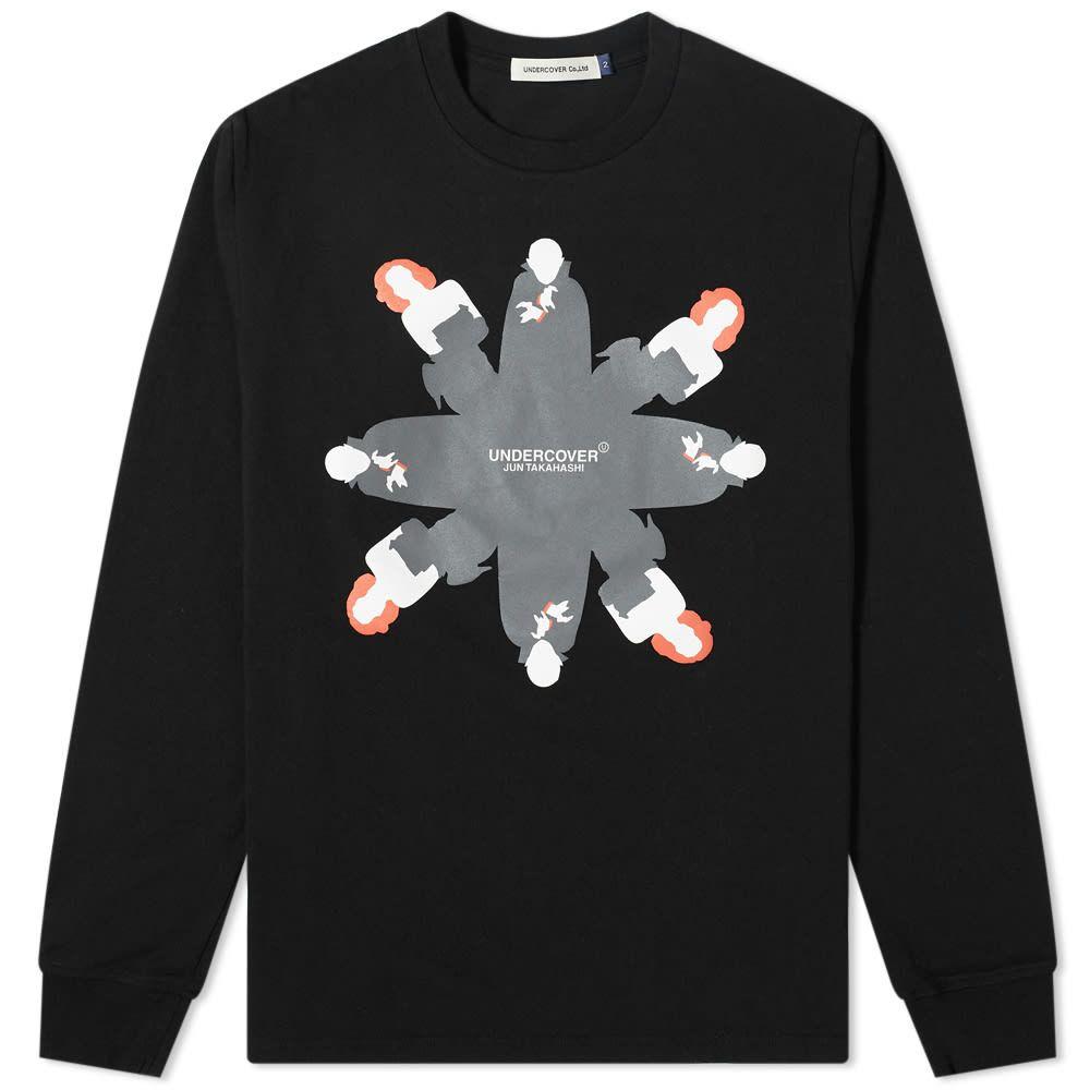 アンダーカバー Undercover メンズ 長袖Tシャツ ロゴTシャツ トップス【Long Sleeve Vampire Logo Tee】Black