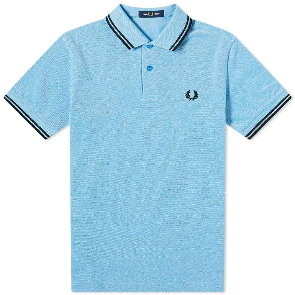 フレッドペリー Fred Perry Authentic メンズ ポロシャツ トップス【Slim Fit Twin Tipped Polo】Wave/White/Blue