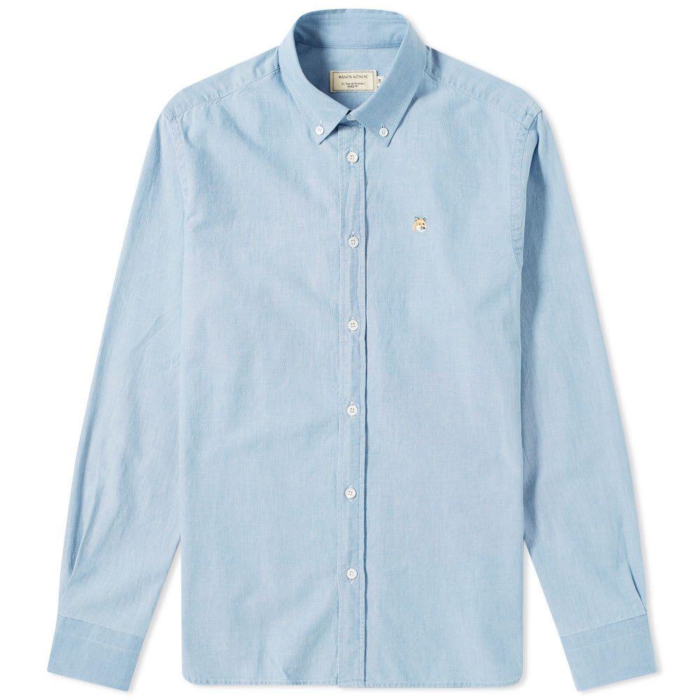 メゾン キツネ Maison Kitsune メンズ シャツ シャンブレーシャツ トップス【Button Down Chambray Shirt】Chambray