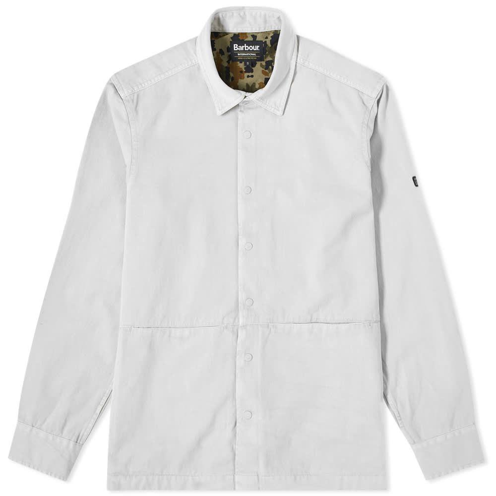 バブアー Barbour メンズ ジャケット オーバーシャツ アウター【International Endo Overshirt】Light Grey