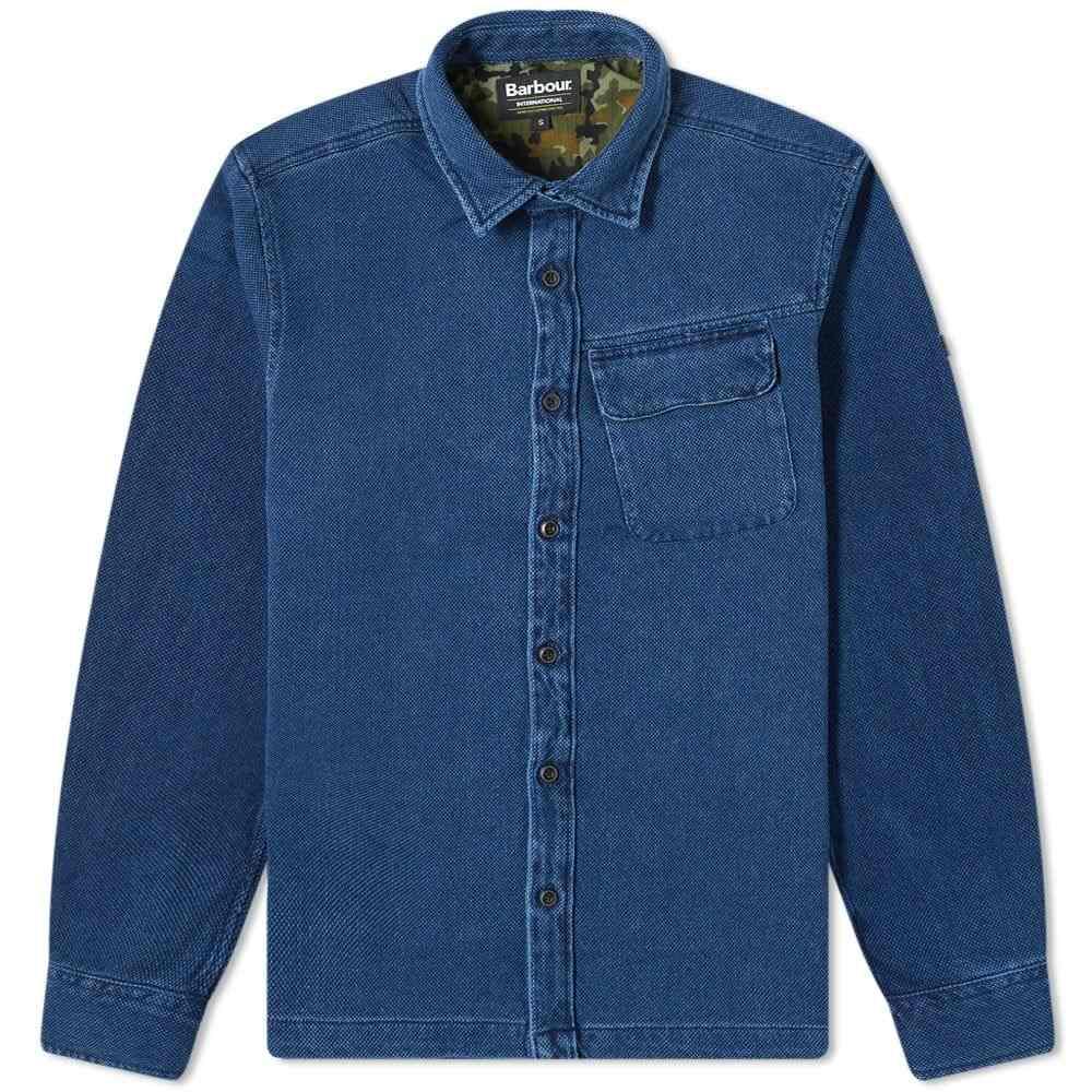 バブアー Barbour メンズ ジャケット オーバーシャツ アウター【International Camber Overshirt】Indigo
