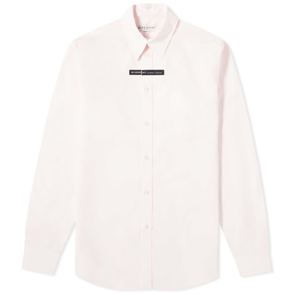 ジバンシー Givenchy メンズ シャツ トップス【Tape Logo Poplin Shirt】Light Pink