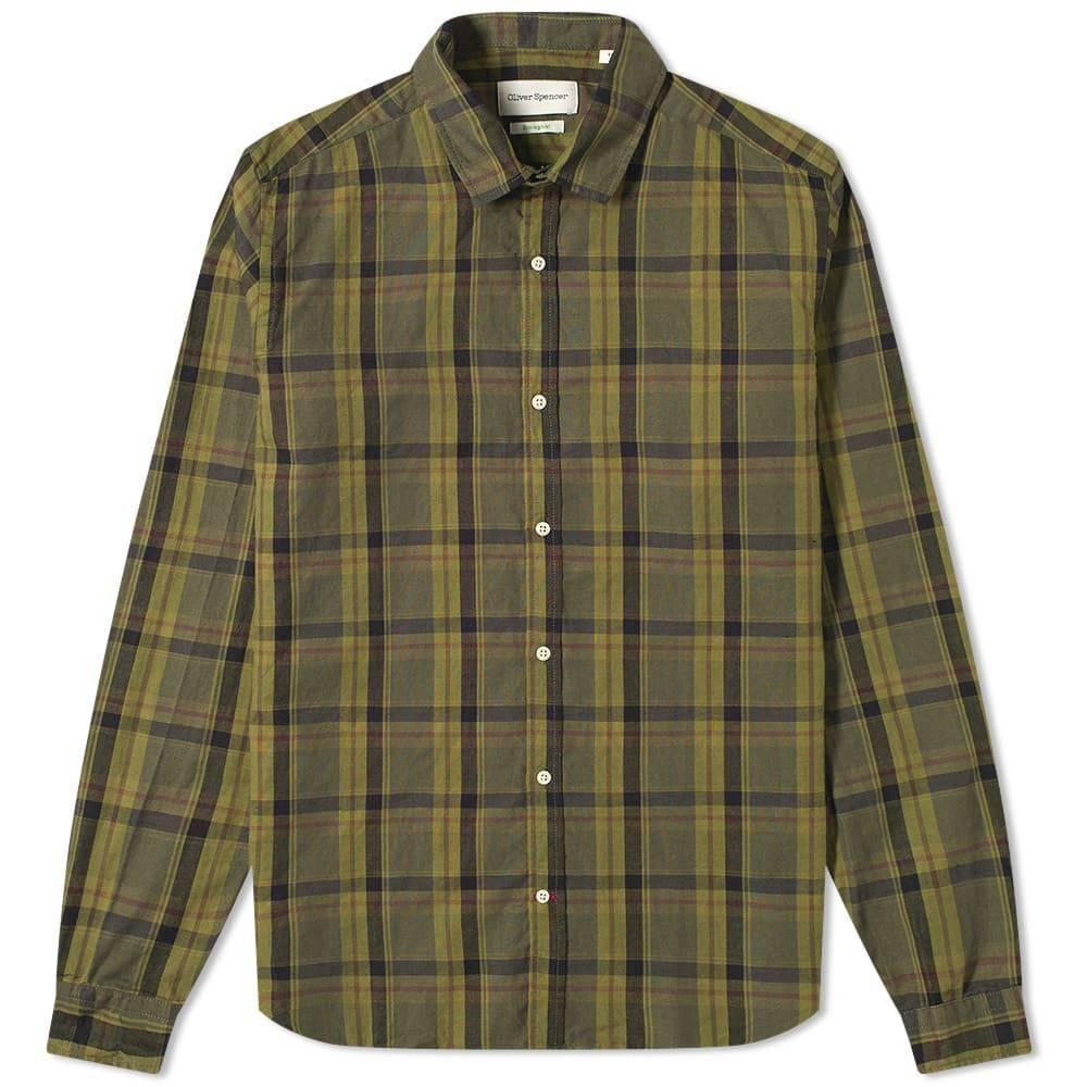 オリバー スペンサー Oliver Spencer メンズ シャツ トップス【Clerkenwell Shirt】Westbury Green