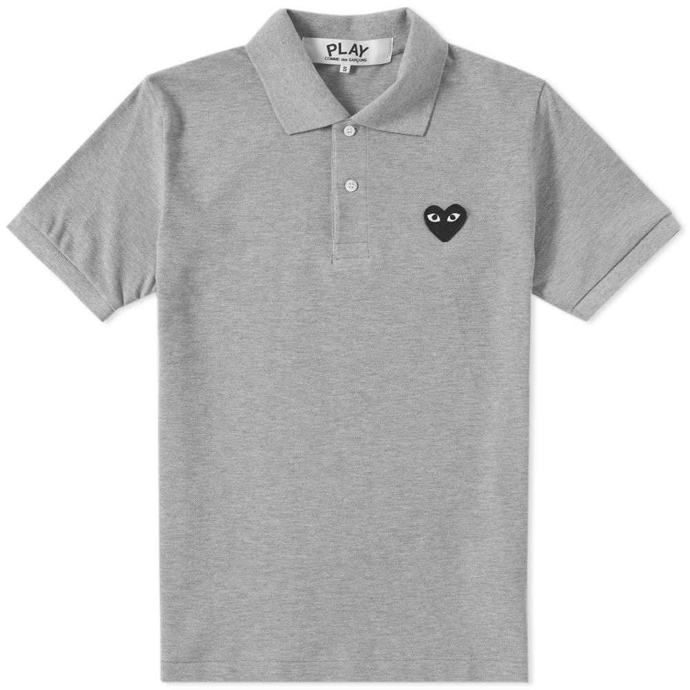 コム デ ギャルソン Comme des Garcons Play メンズ ポロシャツ トップス【Black Heart Polo】Grey