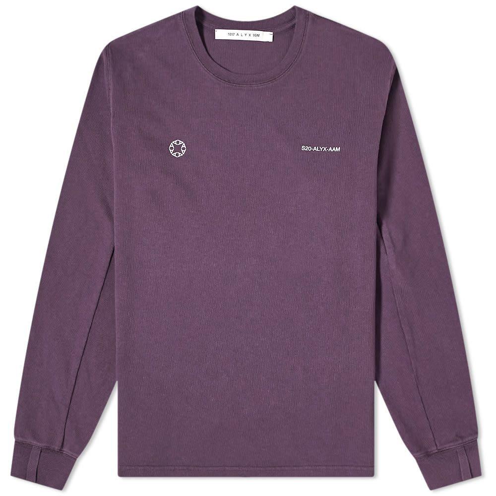 アリクス 1017 ALYX 9SM メンズ 長袖Tシャツ ロゴTシャツ トップス【Long Sleeve Logo Tee】Purple