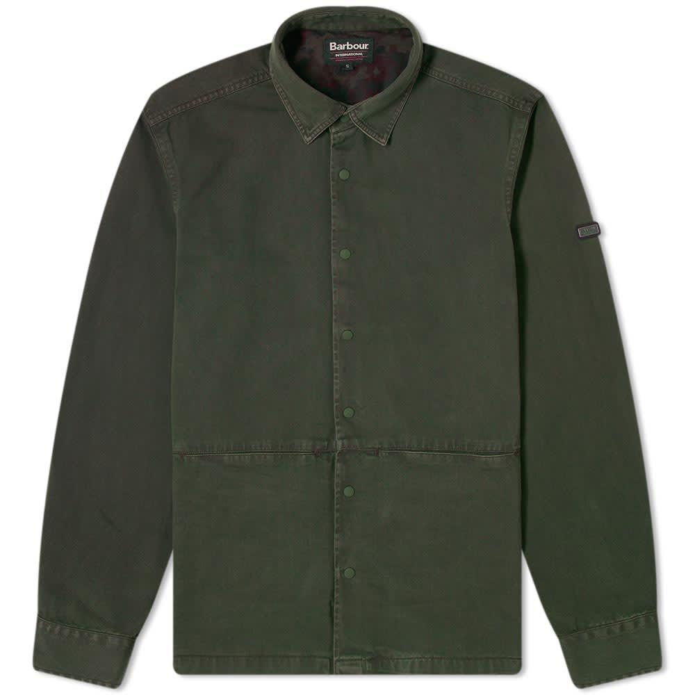 バブアー Barbour メンズ ジャケット オーバーシャツ アウター【International Endo Overshirt】Jungle Green