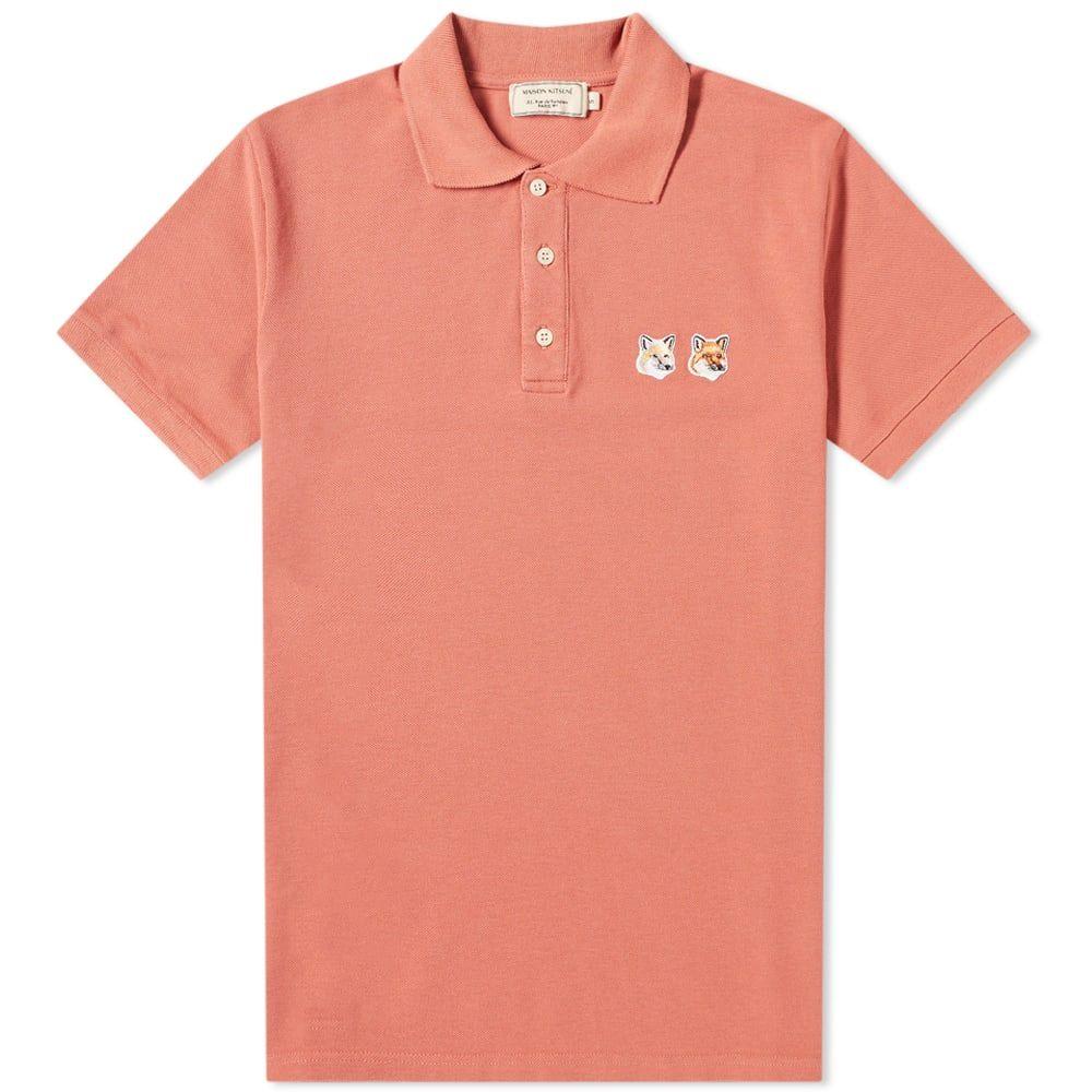 メゾン キツネ Maison Kitsune メンズ ポロシャツ トップス【Double Fox Head Patch Polo】Dark Pink