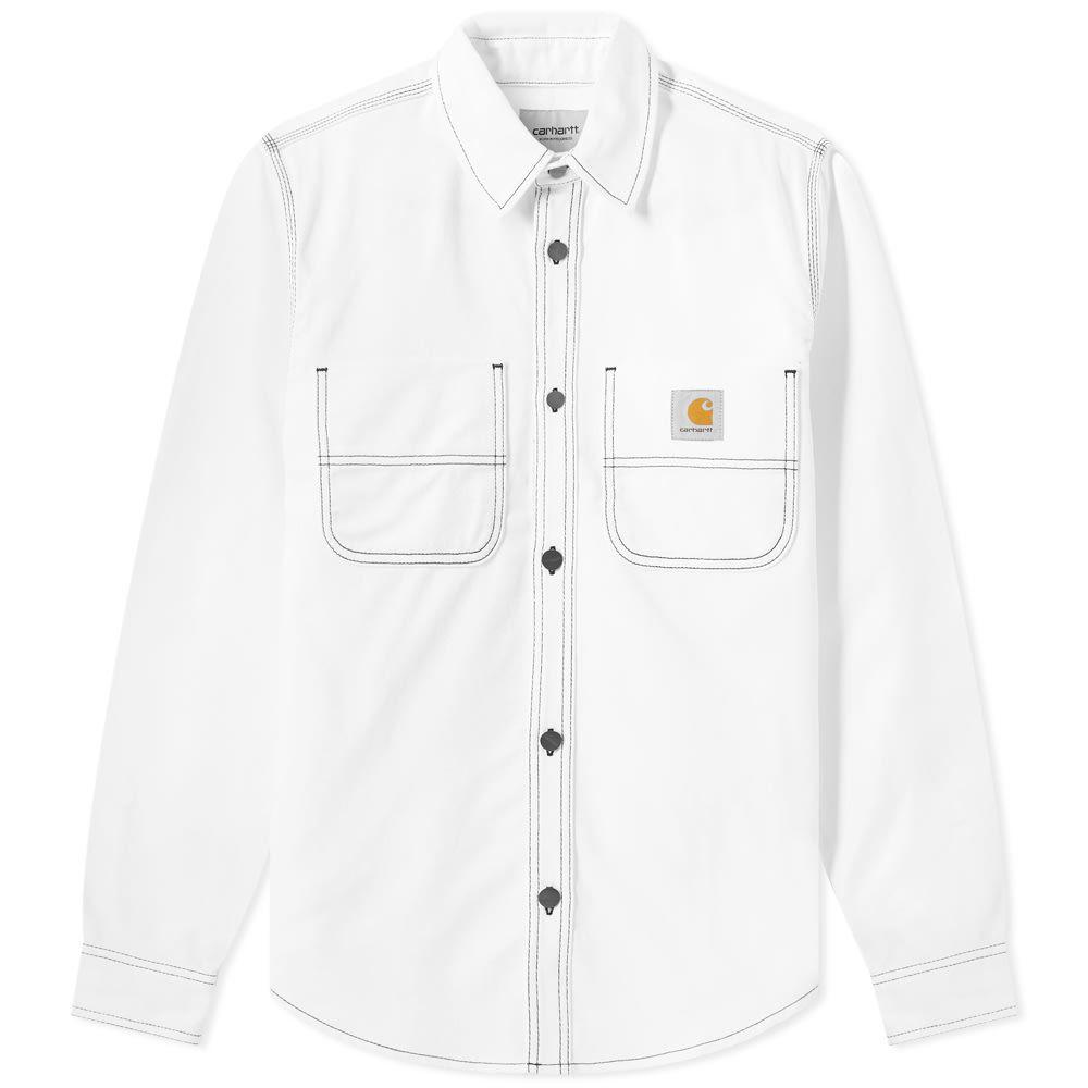 カーハート Carhartt WIP メンズ ジャケット シャツジャケット アウター【Chalk Shirt Jacket】White