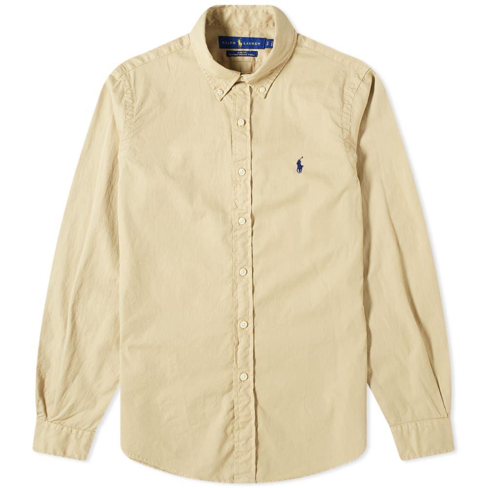 ラルフ ローレン Polo Ralph Lauren メンズ シャツ トップス【Garment Dyed Button Down Shirt】Surrey Tan