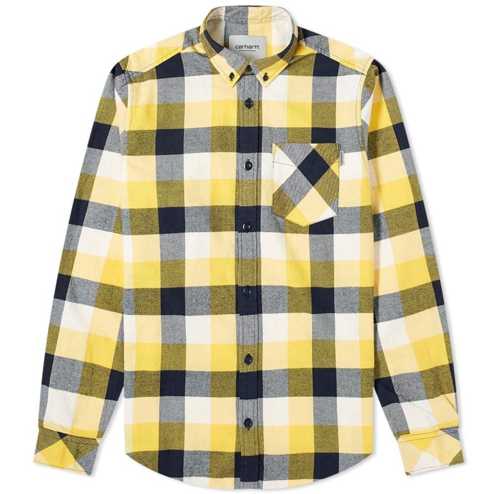 カーハート Carhartt WIP メンズ シャツ フランネルシャツ トップス【Keagan Twill Flannel Shirt】Sunflower Keagan Check