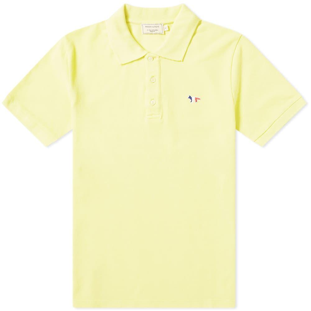 メゾン キツネ Maison Kitsune メンズ ポロシャツ トップス【Tricolor Fox Patch Polo】Lemon