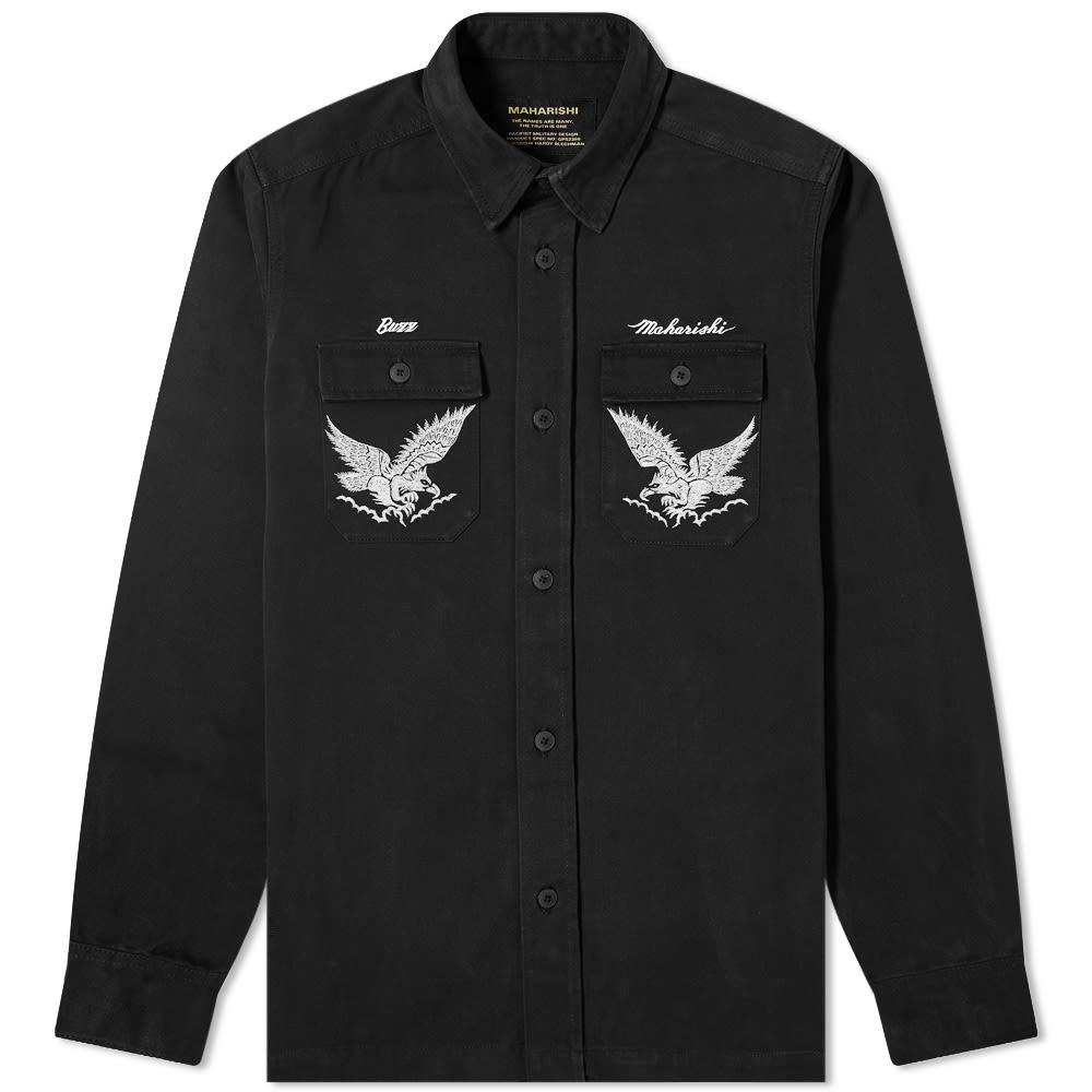 マハリシ Maharishi メンズ シャツ トップス【Drone Eagle Tour Shirt】Black/3M Reflective Suka