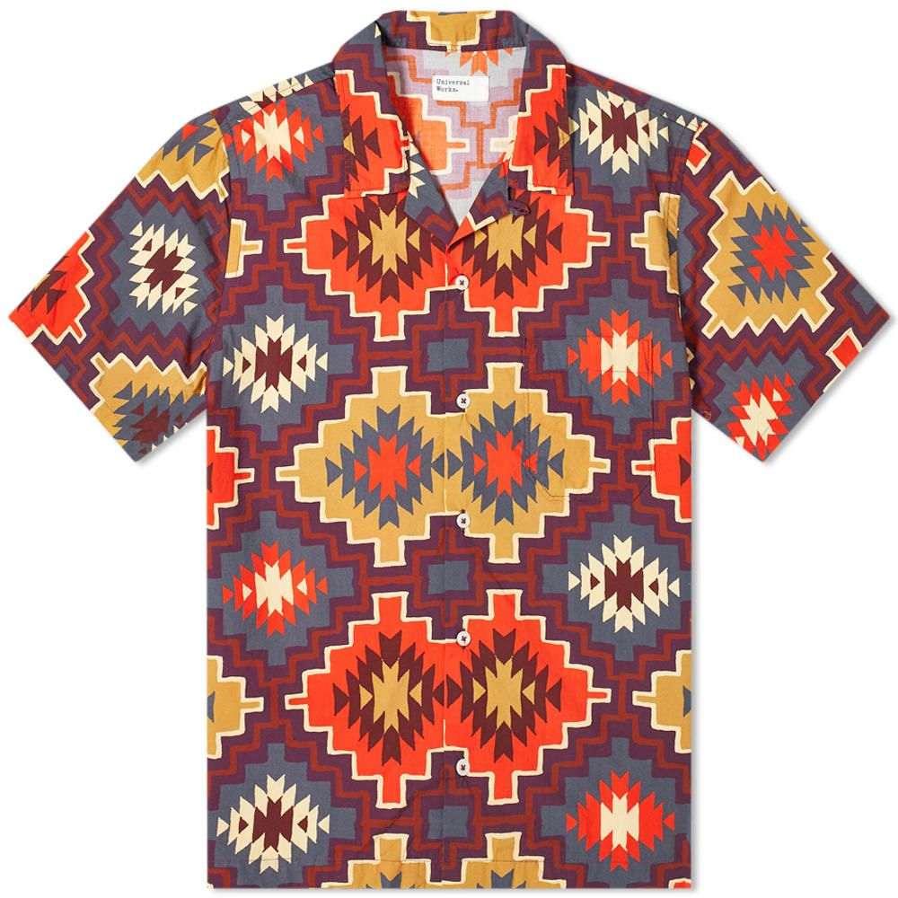ユニバーサルワークス Universal Works メンズ 半袖シャツ トップス【Road Shirt】Brown