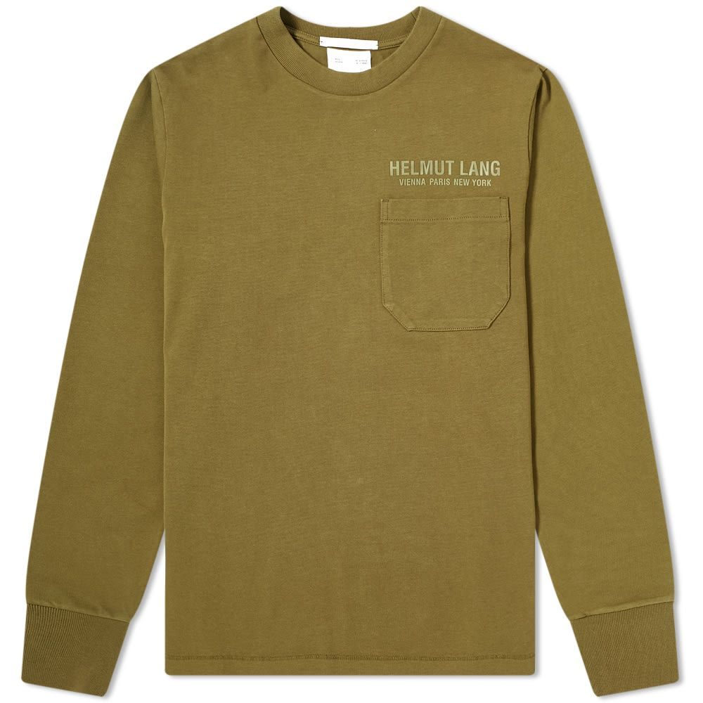 ヘルムート ラング Helmut Lang メンズ 長袖Tシャツ ポケット トップス【Long Sleeve Pocket Tee】Olive
