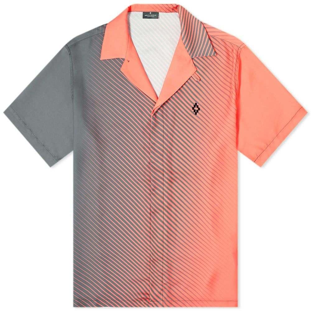 マルセロバーロン Marcelo Burlon メンズ 半袖シャツ トップス【Gradient Vacation Shirt】Dark Grey/Pink
