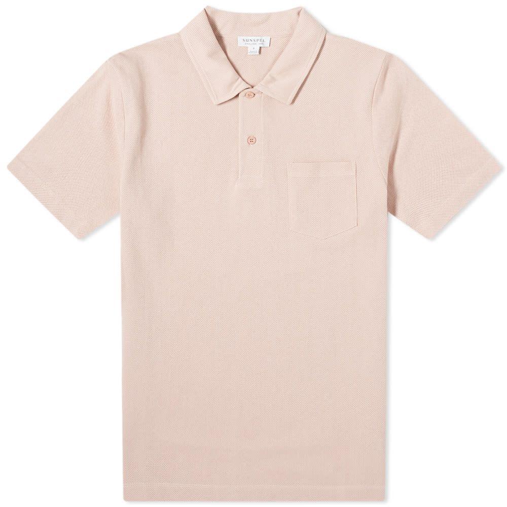 サンスペル Sunspel メンズ ポロシャツ トップス【Riviera Polo】Dusty Pink