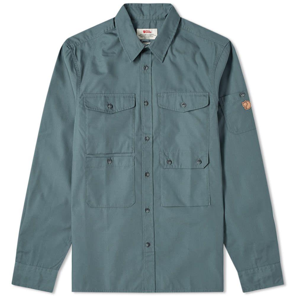 フェールラーベン Fjallraven メンズ シャツ トップス【Ovik Shade Pocket Shirt】Dusk