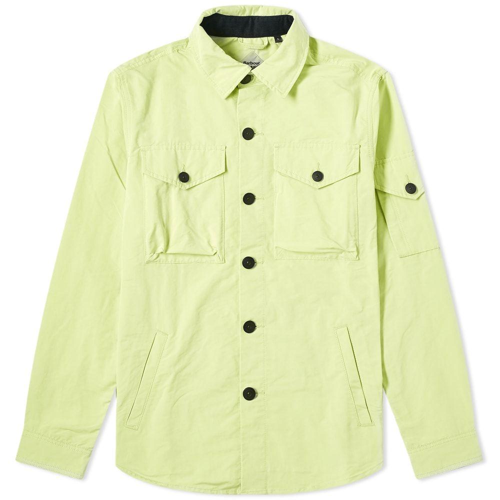 バブアー Barbour メンズ アウター オーバーシャツ【Beacon Askern Overshirt】Celery Green