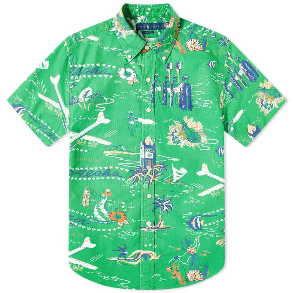 ラルフ ローレン Polo Ralph Lauren メンズ 半袖シャツ 半袖 トップス【Short Sleeve Button Down Travel Shirt】Hawaiian Getaway