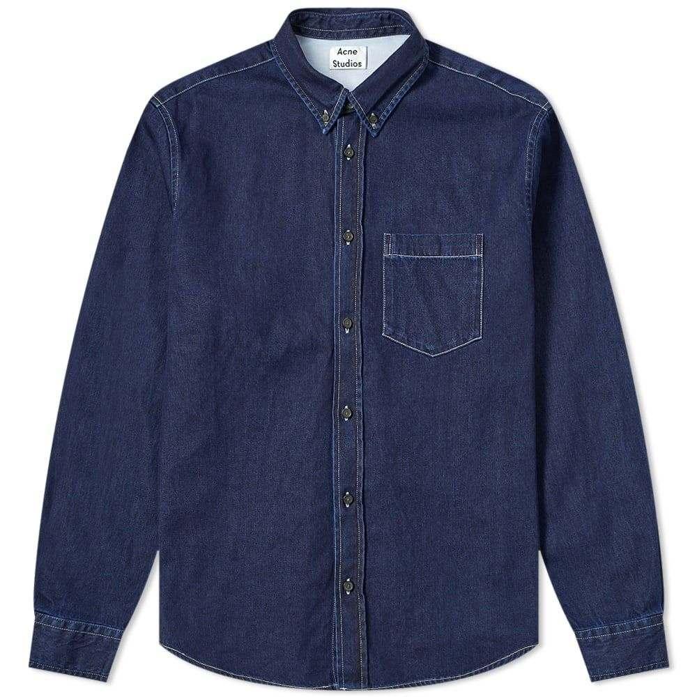 アクネ ストゥディオズ Acne Studios メンズ シャツ デニム トップス【Sarkis Denim Shirt】Indigo Blue