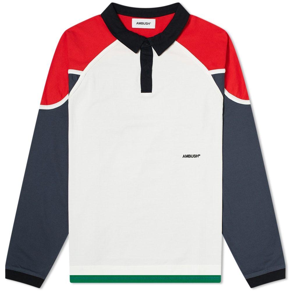 アンブッシュ Ambush メンズ ポロシャツ トップス【Rugby Shirt】White/Multi