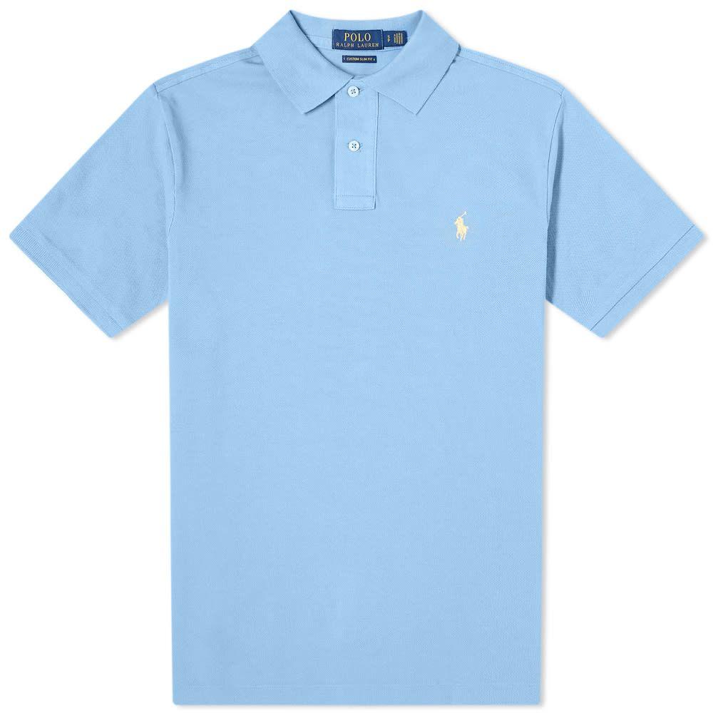 ラルフ ローレン Polo Ralph Lauren メンズ ポロシャツ トップス【Slim Fit Polo】Cabana Blue