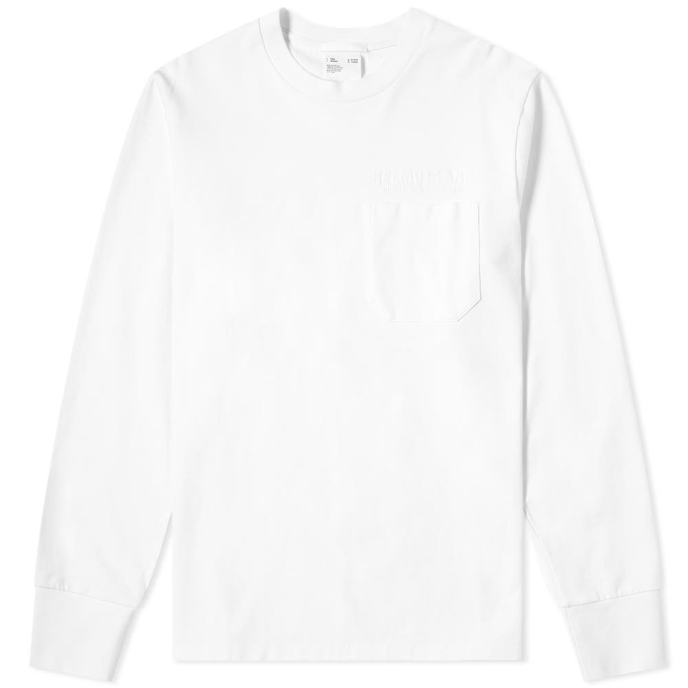 ヘルムート ラング Helmut Lang メンズ 長袖Tシャツ ポケット トップス【Long Sleeve Pocket Tee】Chalk White