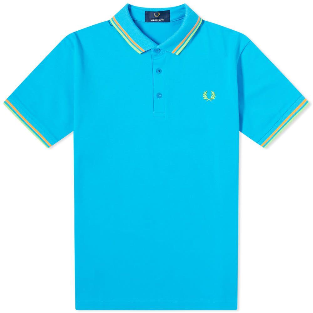フレッドペリー Fred Perry Authentic メンズ ポロシャツ トップス【Made in Japan Polo】Aqua Marine