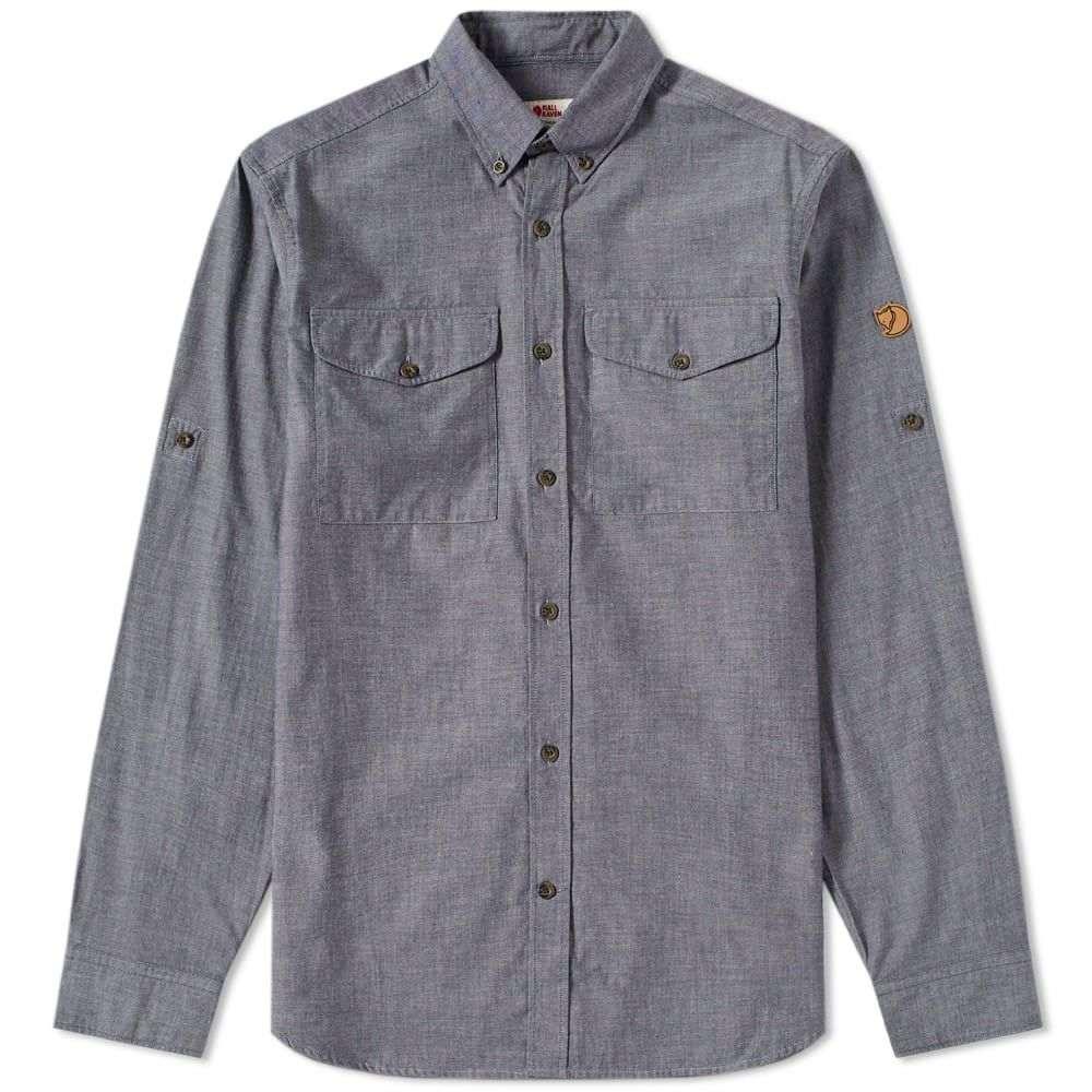 フェールラーベン Fjallraven メンズ シャツ シャンブレーシャツ トップス【Ovik Chambray Shirt】Navy