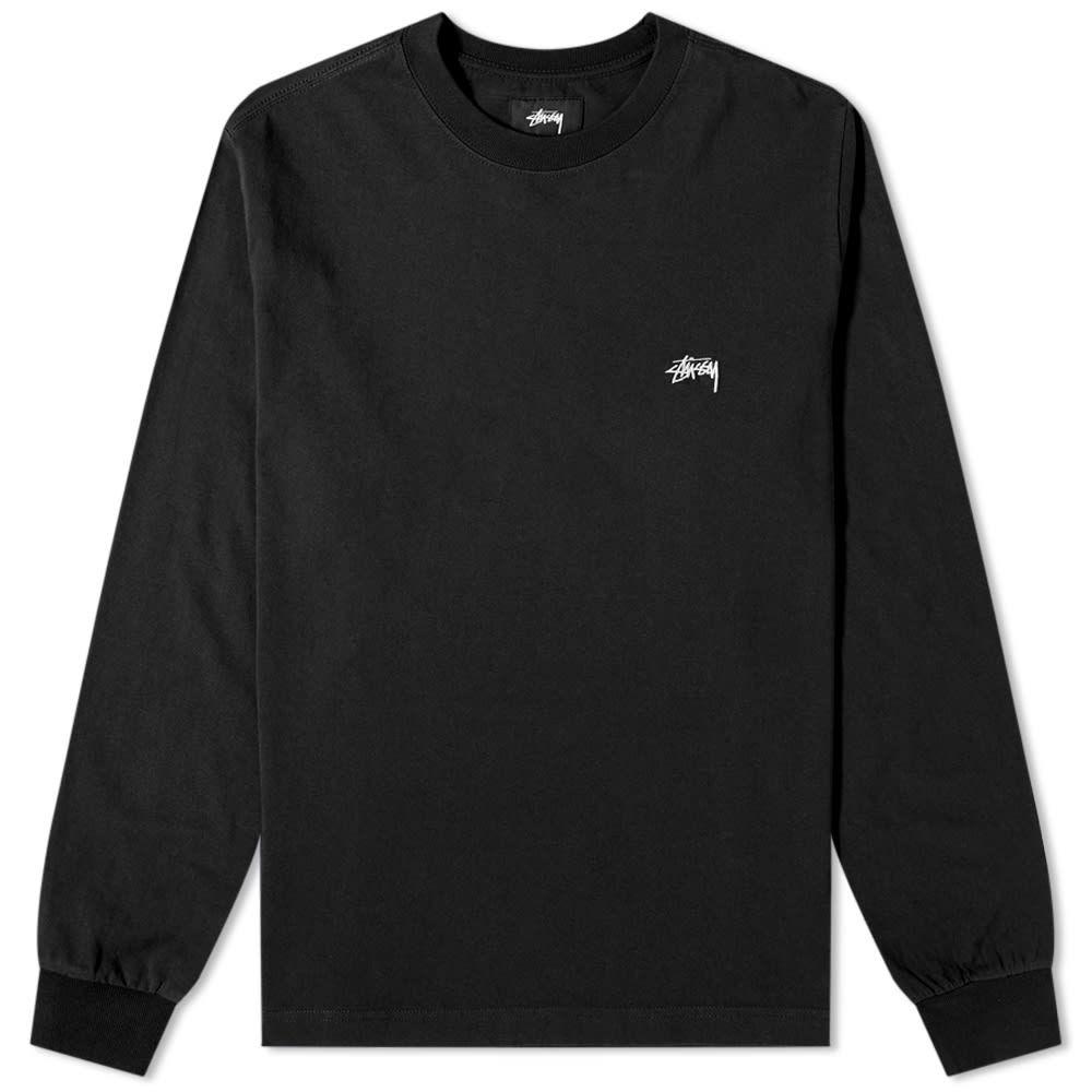 ステューシー Stussy メンズ 長袖Tシャツ ロゴTシャツ トップス【Long Sleeve Stock Logo Tee】Black