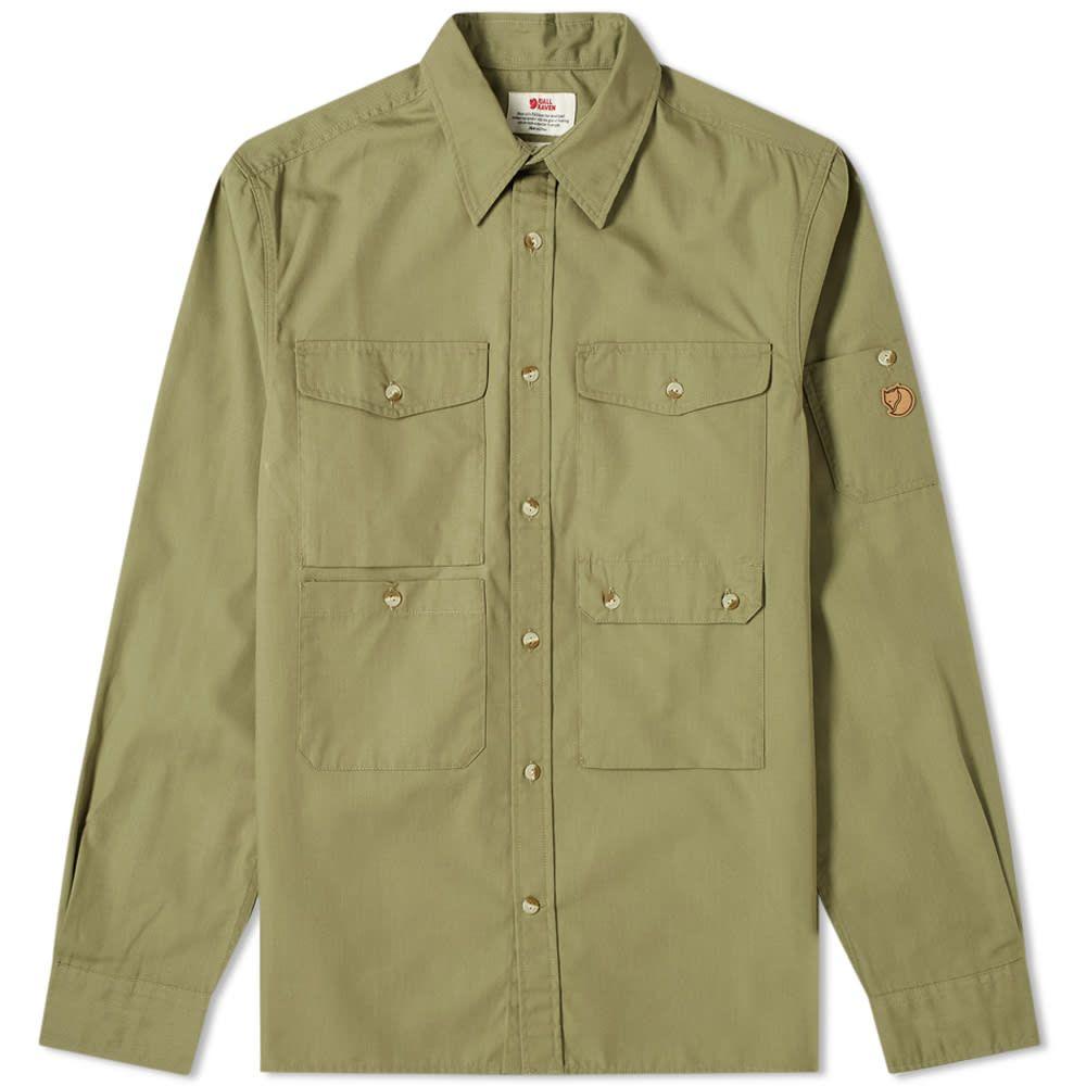 フェールラーベン Fjallraven メンズ シャツ トップス【Ovik Shade Pocket Shirt】Green