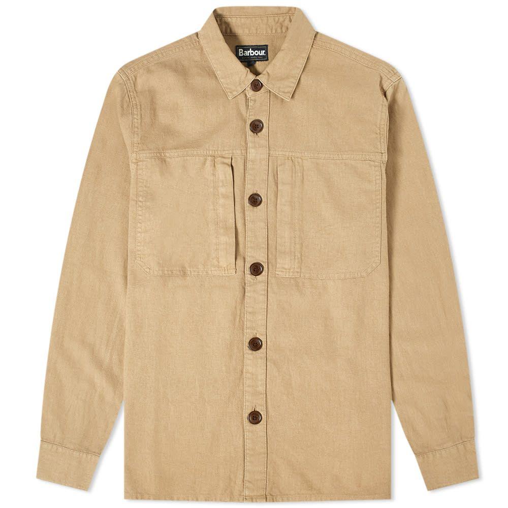 バブアー メンズ アウター ジャケット Stone ファッション通販 オーバーシャツ サイズ交換無料 Kilda 大幅にプライスダウン Overshirt Barbour