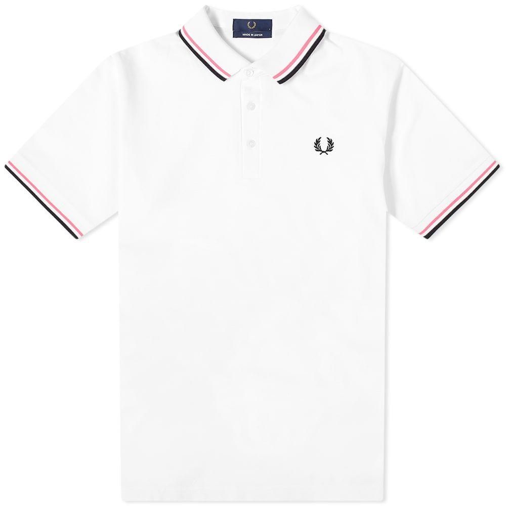 フレッドペリー Fred Perry Authentic メンズ ポロシャツ トップス【Made in Japan Polo】White