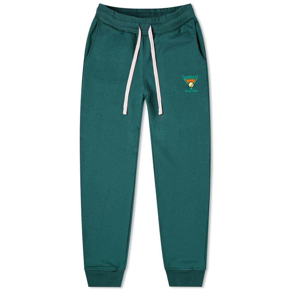 カサブランカ Casablanca メンズ スウェット・ジャージ ボトムス・パンツ【Casa Tennis Club Sweat Pant】Dark Green
