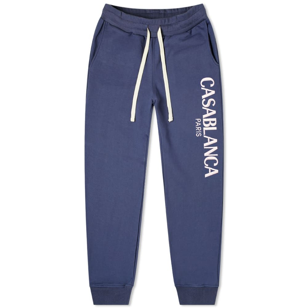 カサブランカ Casablanca メンズ スウェット・ジャージ ボトムス・パンツ【Casa Block Logo Sweat Pant】Navy
