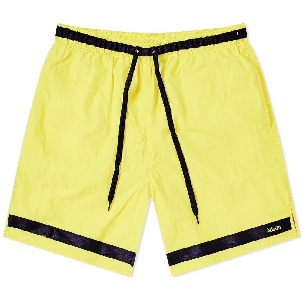 アドサム Adsum メンズ ショートパンツ ボトムス・パンツ【Effo Nylon Short】Lemon