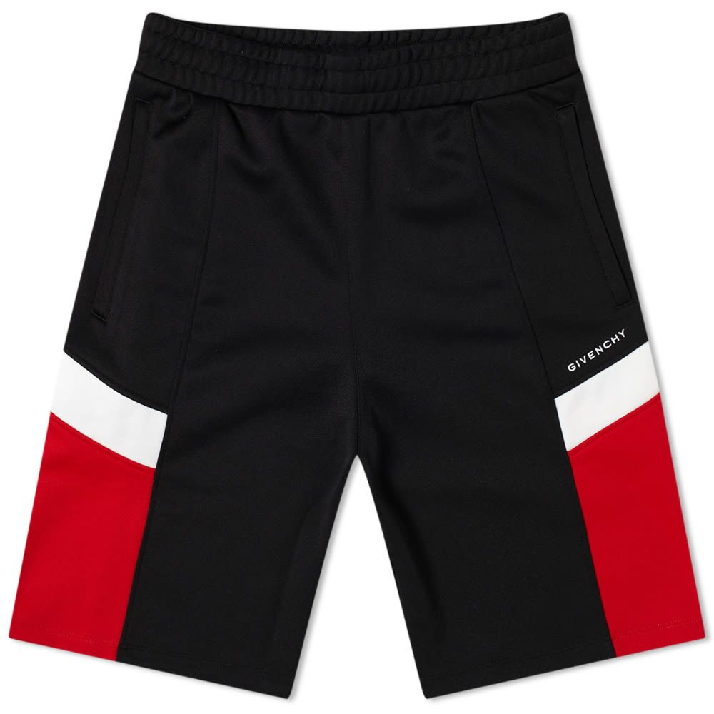 <title>ジバンシー まとめ買い特価 メンズ ボトムス パンツ ショートパンツ Black Red White サイズ交換無料 Givenchy Insert Logo Track Short</title>