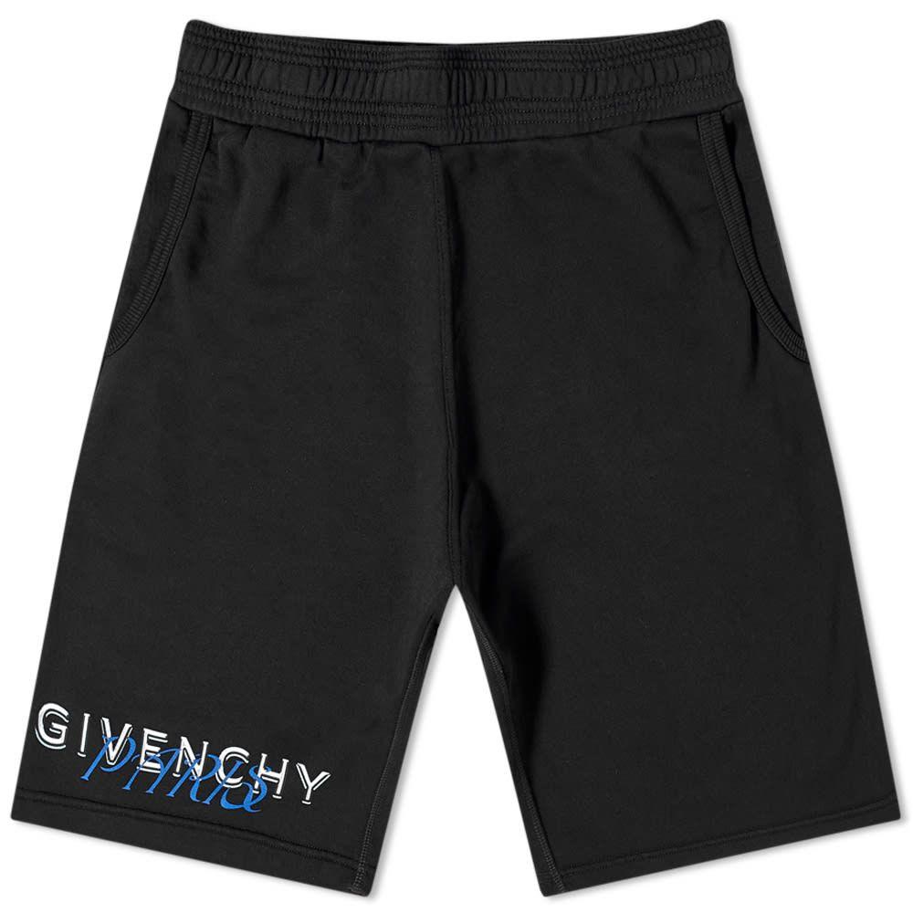 ジバンシー Givenchy メンズ ショートパンツ ボトムス・パンツ【Metallic Logo Jersey Short】Black