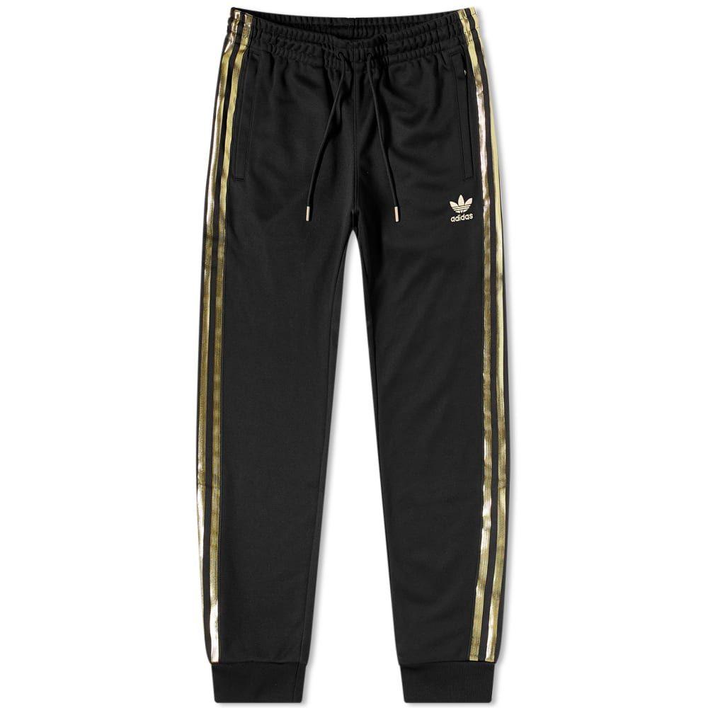 アディダス Adidas メンズ スウェット・ジャージ ボトムス・パンツ【Superstar 24K Track Pant】Black/Gold