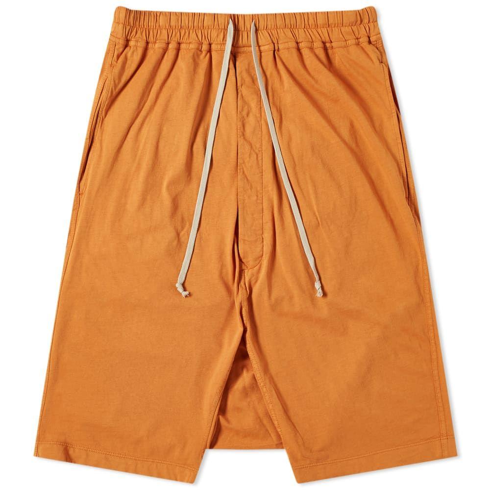 リック オウエンス Rick Owens メンズ ショートパンツ ボトムス・パンツ【DRKSHDW Drawstring Pod Short】Tangerine