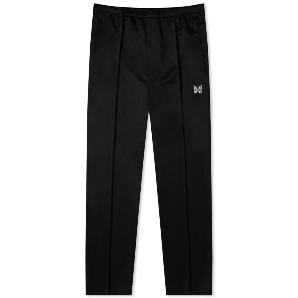 ニードルズ Needles メンズ スウェット・ジャージ ボトムス・パンツ【Side Line Track Pant】Black/White