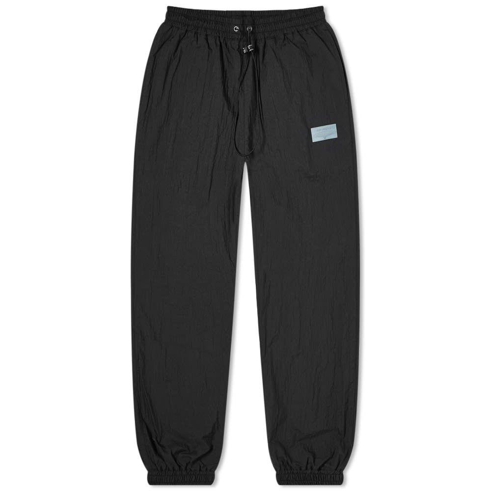 リアムホッジ Liam Hodges メンズ スウェット・ジャージ ボトムス・パンツ【Crinkle Branded Track Pant】Black