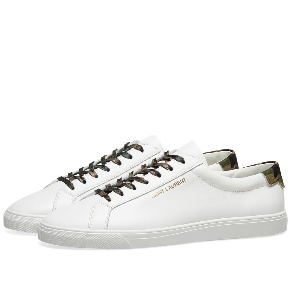 イヴ サンローラン Saint Laurent メンズ シューズ・靴 スニーカー【Andy Signature Camo Sneaker】White/Camo