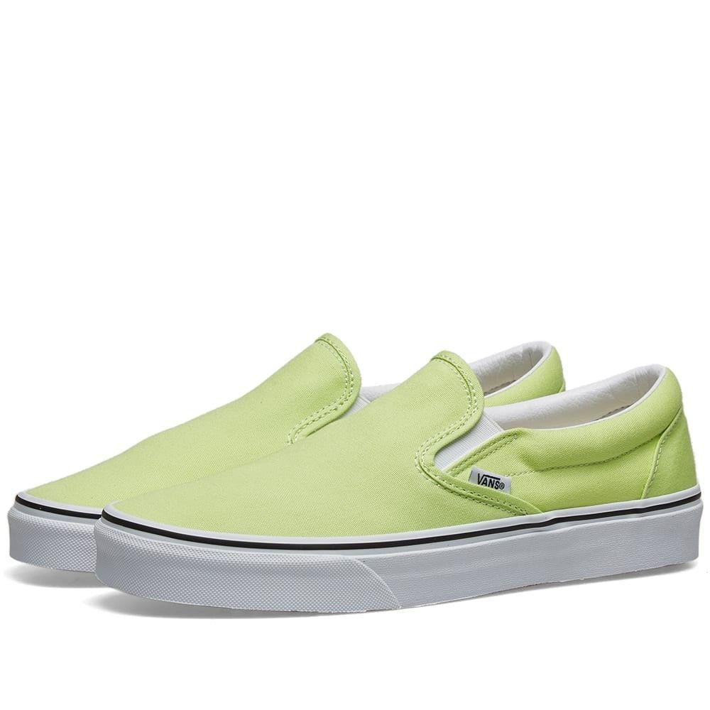ヴァンズ Vans メンズ スリッポン・フラット シューズ・靴【classic slip-on】Green/White