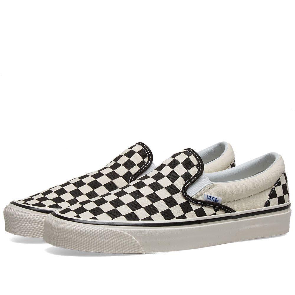 ヴァンズ Vans メンズ スリッポン・フラット シューズ・靴【ua classic slip on 98 dx】Checkerboard Black/White