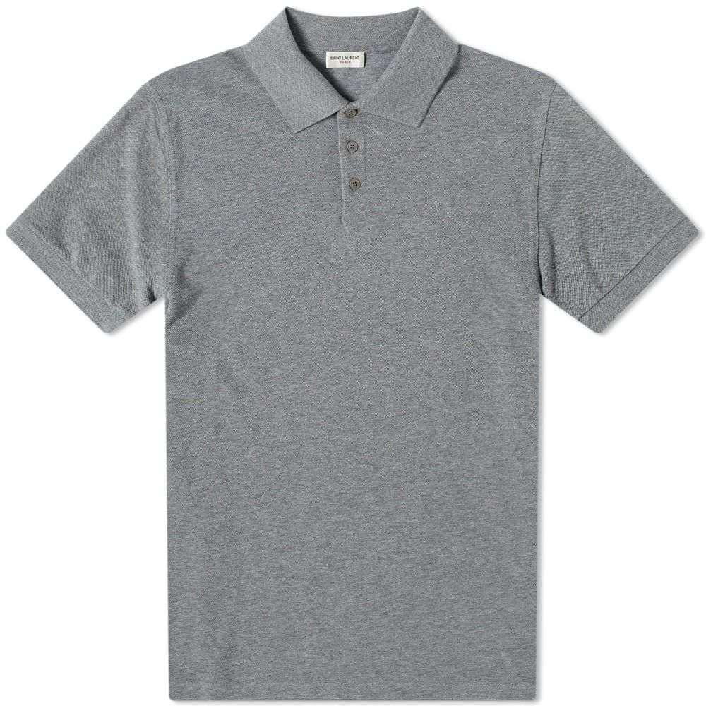 イヴ サンローラン Saint Laurent メンズ ポロシャツ トップス【classic ysl polo】Grey