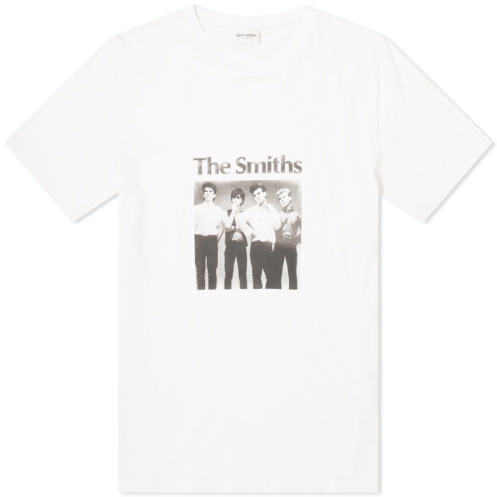 イヴ サンローラン Saint Laurent メンズ Tシャツ トップス【the smiths tee】Natural/Black